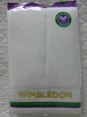 WIMBLEDON Towel TENNIS Sports Quick Dry White - BNWT