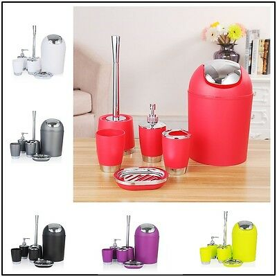 6 piece Bathroom Accessories, Soap Dish Bin Toothbrush Holder Soap Dispenser