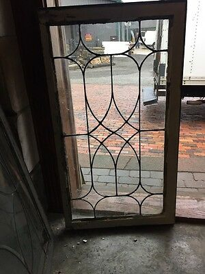 Sg 856 Antique Leaded Glass Window Transom