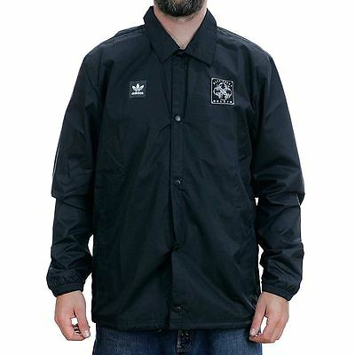 Adidas Skateboarding x Dklein Coach Jacket Black Coat Rare Limited Free Delivery