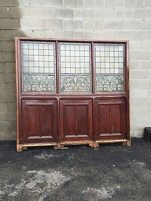 Cm 81 One Stained Glass Partition Wall Antique Oak
