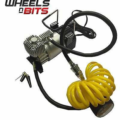 12V Powerful Heavy Duty Portable Air Compressor 4x4 Tyre Pump Quick inflate