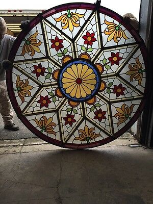 Cm 1010 Antique All Stained Glass 6 Foot Skylight Floral