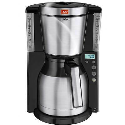 Melitta 6738044 Look IV Therm Timer Filter Coffee Machine with Timer Black New