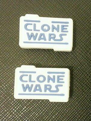 2 x Star Wars Clone Wars Croc Logo Shoe Charms Crocs Jibbitz Wristbands