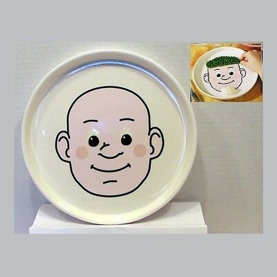 New in Box Cobble Creek Vintage Retro Style Food Face Ceramic Child Kid's Plate