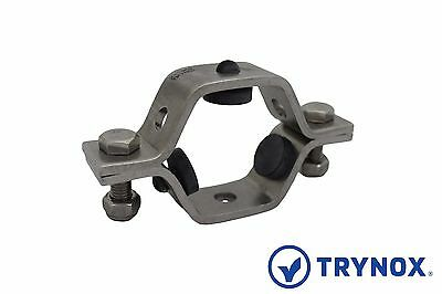 3A Sanitary Stainless Steel 4'' Hex Pipe Hanger / Rubber Trynox