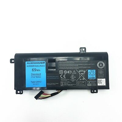 69Wh Genuine Battery DELL Alienware 14 A14 M14X R3 R4 G05YJ 0G05YJ Y3PN0 8X70T