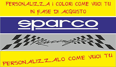 Adesivo Fascia Parasole Sparco Tuning Racing Total  Wrc Need For Speed Cod81