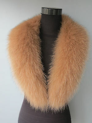Real Fox fur collar / fur scarf/ wrap/hood camel 2016 new 90*14cm shipping free