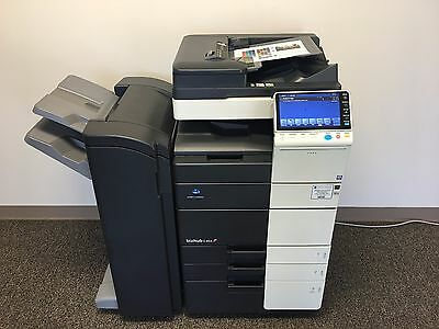 Konica Minolta Bizhub C454 Color Copier Printer Scanner & FS-534 Staple Finisher