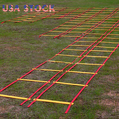 8 12 20 Rung Speed Agility Ladder Soccer Football Sports Ladder Training + Bag