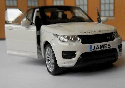 PERSONALISED PLATES RANGE ROVER SPORT Toy Car MODEL boy dad CHRISTMAS gift NEW