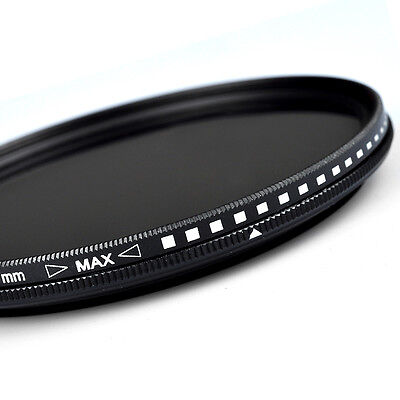 ZOMEI 52/55/58/62/67/72/82mm Adjustable Neutral Density Fader  filter ND2-400
