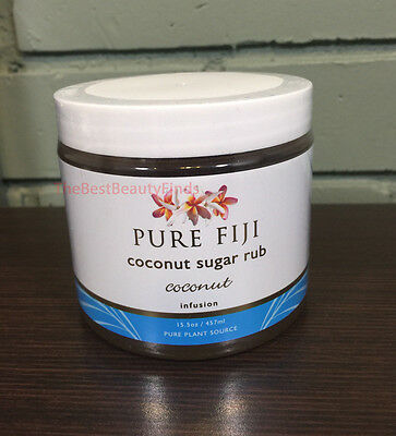 Pure Fiji Coconut Sugar Rub COCONUT Infusion 15.5oz HUGE SIZE- SEALED & FRESH