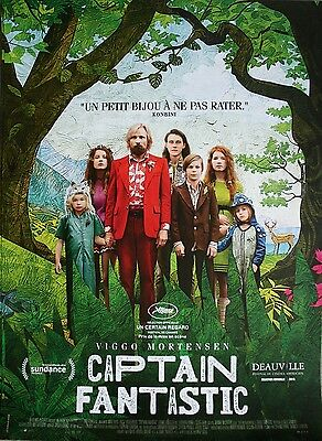 CAPTAIN FANTASTIC Affiche Cinéma / Movie Poster Matt Ross Viggo Mortensen