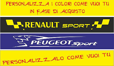 ADESIVO FASCIA PARASOLE SPARCO TUNING RACING PEUGEOT RENAULT SPORT RALLY cod77