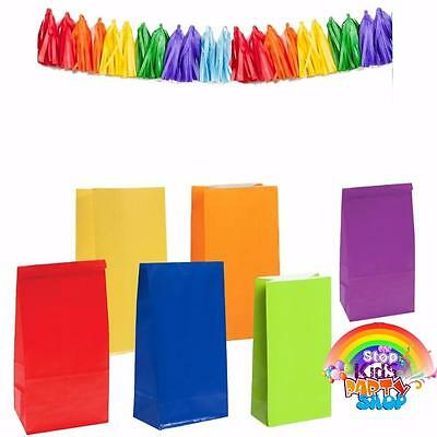 12 Coloured Party Bags/Kids Parties/Baby Showers/Weddings/Loot Bags/Favours