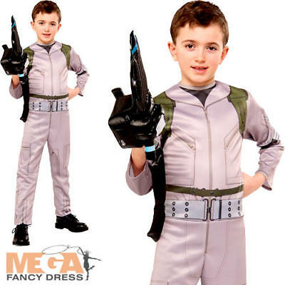 Ghostbusters Boys Fancy Dress Halloween Kids Childrens Childs Costume Outfit New