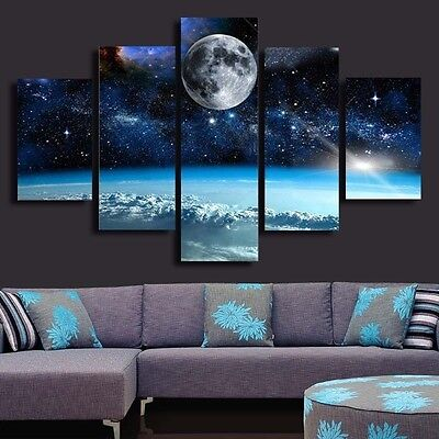 Space- LARGE SPLIT FRAMED CANVAS PRINTS ! Modern Exclusive Art Painting