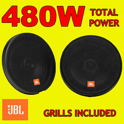 JBL 135W 2-WAY 6.5 INCH 16.5cm CAR/VAN DOOR/SHELF COAXIAL SPEAKERS GRILLS NEW