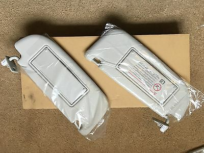 Genuine Peugeot 308CC Sun Visor Set Llama Grey  Part No. 8163CA 8163LE