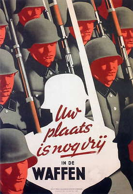 German WW2 Your Place in the Dutch Waffen SS large Poster