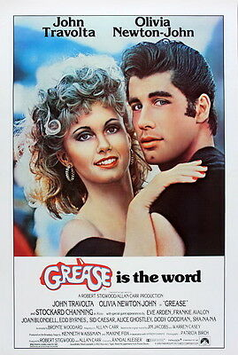 Grease 1978 Classic Movie Film promo poster