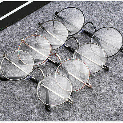 Men Women Vintage Retro Round Glasses Frame Clear Lens Eyeglasses Unisex Fashion