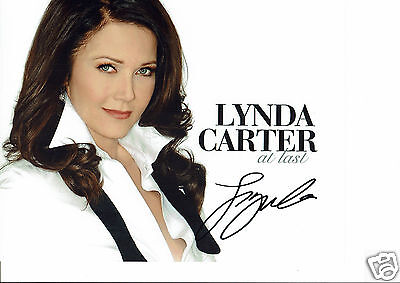 Linda Carter Actress Singer At last  Hand Signed Photograph 10 x 8