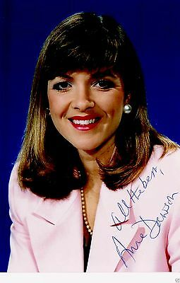 Anne Dawson New and TV Broadcaster  Hand Signed Publicity Photograph 6 x 4