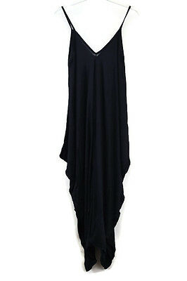 Italian Ladies Jumpsuit Cami Strappy  Italian Drape Baggy Harem Playsuit 039