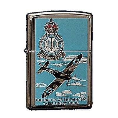 NEW Zippo Battle Of Britain Lighter - High Polished Chrome