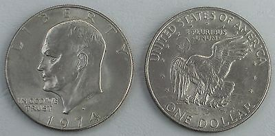 USA Eisenhower Dollar 1974 D p203 vz-unz
