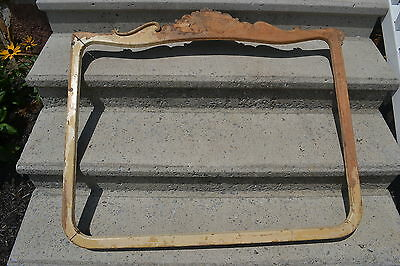 """MOVING SALE COUNTRY FRENCH Picture Frame White/Natural Wood 44"""" wide x 36 High"""