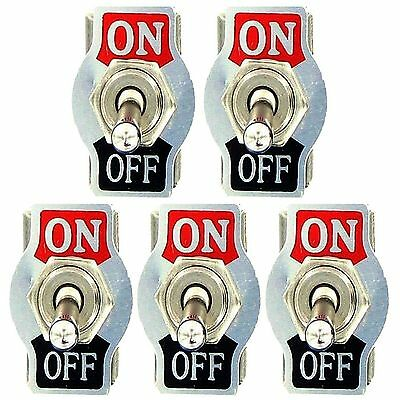 5Pcs Heavy Duty 10A 125V 15A 250V SPST 2 Pin ON/OFF Rocker Toggle Switch US
