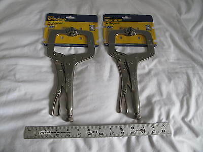 """(2) New Irwin 11"""" Vise-Grip C-Clamp 11SP Capacity 3-3/8"""" free shipping!"""