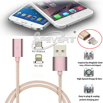 Magnetic Adapter Lightning USB Data Charging Cable For iPhone 6 Samsung Android