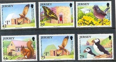 Jersey Nature Conservation-Puffin-Red Squirrel Birds mnh set of 6