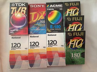 Lot of 10 BLANK VIDEO TAPES - New & Sealed VHS