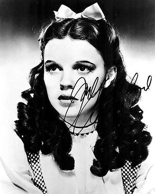 Judy Garland Wizard of Oz Autograph Signed Photo Preprint Glossy Portrait