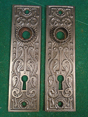 Pair Vintage Cast Iron Eastlake Backplates     (6000-X)