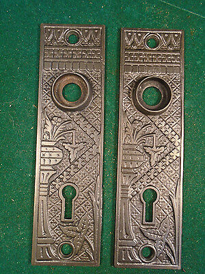 Pair Vintage Cast Iron Eastlake Backplates     (6000-R)