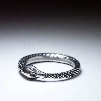 Ouroboros Ring, sterling silver, handmade