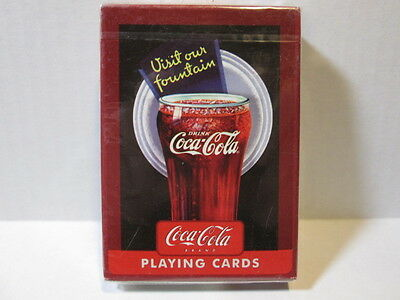 Coca~Cola Playing Cards *visit Our Fountain* ~ Unopened Original Box Bicycle