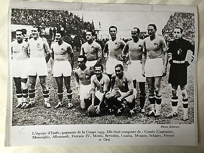 photo press football  World Cup 1934 Equipe Italy       314