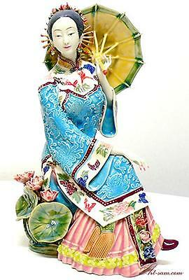 Master Oriental Chinese Lady - Ceramic Woman Figurine