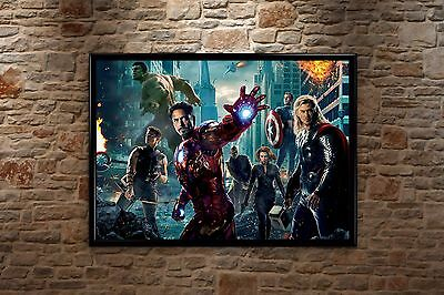 The Avengers Super Hero Iron Man Movie High-Quality Poster Print Art A1, A2, A3+