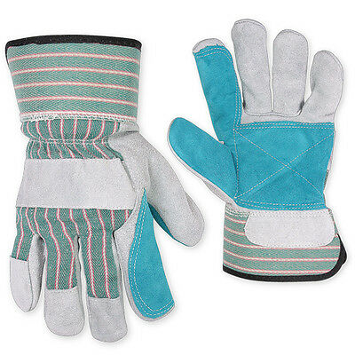 Work Gloves Double Palm Leather 12 Pairs (XL)