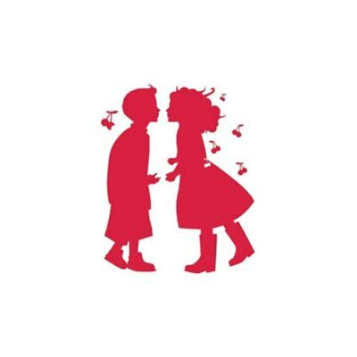 NEW Wall Decal - Cherry Red Boy & Girl from Purple Turtle Toys